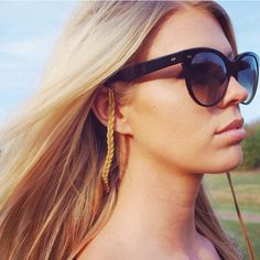 Sintillia makes a dope line of Statement Sunglass Straps that goes great with any pair of Ellisons! #WearEllison #Sintillia