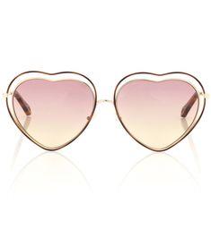 198e591c75 Chloé - Sonnenbrille Poppy Heart - Die beliebte Poppy Sonnenbrille des  französischen Labels Chloé kommt diese