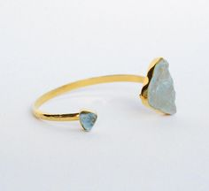 Brazalete Clara con Topacio azul  Bangle, Topaz, Jewellery, Goldfilled, Stone