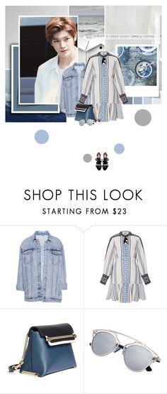"""""""There's a story that's deeply hidden"""" by bibibaubau ❤ liked on Polyvore featuring Pull&Bear, Polaroid, Sea, New York, Chloé, Ulla Johnson, kpop, taeyong and nct"""