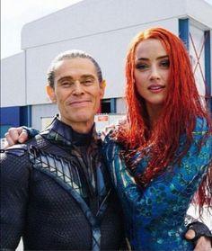 illem Dafoe and Amber Heard of 'Aquaman. illem Dafoe and Amber Heard of 'Aquaman. Films Marvel, Marvel Dc Comics, Aquaman 2018, Aquaman Film, Willem Dafoe, Movies And Series, Comic Movies, Film Serie, Dc Heroes