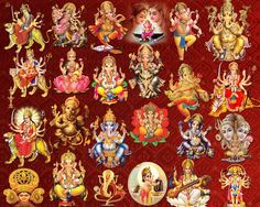 Hindu God-Goddess clipart PSD files Number of files- 24 Document type- PSD .