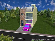 3D house design front view