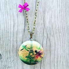 Lovely Dragonflies & The Eiffel:-) http://ift.tt/26tZFrG #necklace #locket #ldnont #buylocal #etsy #parisfashionweek #france #toureiffel #mothersday #dragonfly