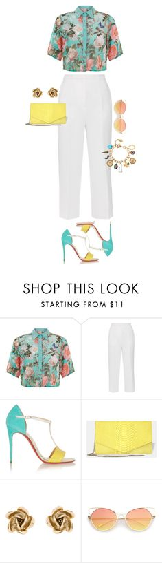 """""""Untitled #751"""" by jeauhall ❤ liked on Polyvore featuring Parisian, Rochas, Christian Louboutin, Oscar de la Renta and Betsey Johnson"""