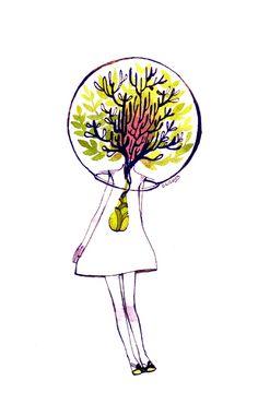 Tree Girl by koyamori.deviantart.com on @deviantART