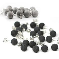 Concrete earrings by Marcus Uran
