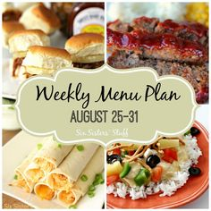 Wow, I will be looking at this in the future. I love their recipes. Weekly Menu Plan August 25-31 from Six Sisters' Stuff