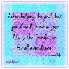Eckhart Tolle - gratitude