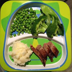 Easy Toddler Food - Toddler Steak with Mash and Veg