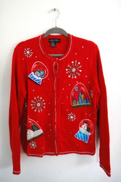 UGLY Christmas Sweater Vintage All Points Snow by FiveDogVintage, $35.00