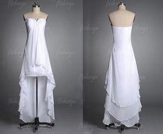 hilo beach wedding dress white beach wedding dress by fitdesign, $119.00