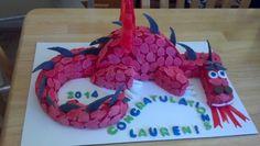 Dragon Graduation Cake I made