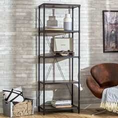 "Brice office- Found it at Joss & Main - Grafton 72"" Etagere Bookcase"