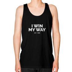 I Win My Way Unisex Fine Jersey Tank (on man)