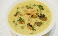 Supa crema de pui cu ciuperci