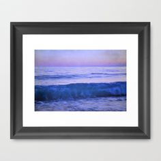 Blue wave Framed Art Print by Guido Montañés - $37.00