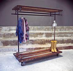 #205 Industrial Garment Rack