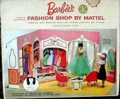 Vintage cardboard fashion store