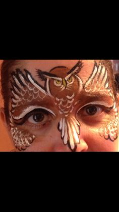 An owl face painting I did also inspired by The Wolfe Brothers!