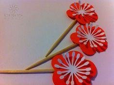 Stecchini decorati per abellire i vostri partys, adatti per decorare i vostri catering, fatti a mano cojaseventi.com https://www.facebook.com/pages/Cojas-Eventi-Wedding-Planner-Sardegna/192376730792148?ref=hl