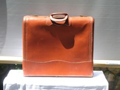 Top Grain Cow Hide Leather Suitcase or Large Briefcase, Satchel - pinned by pin4etsy.com