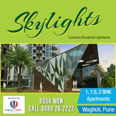 Skylights Wagholi is brand new projects in Pune.Skylights Pune is one of the best and preferred projects by Ravinanda Landmarks which is spread across 10 acres of land. Find All the details at http://goo.gl/oe1CXu