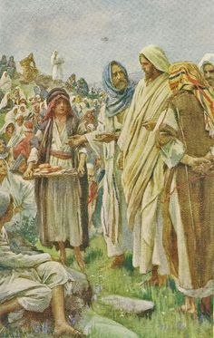 Feeding the Five Thousand by Harold Copping {c.1920's} ~ Jesus
