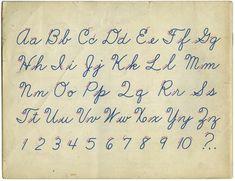 Old School cursive practice
