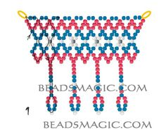 Free pattern for beaded necklace France   U need: seed beads 11/0