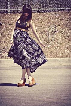 good day sunshine  skirt over bump