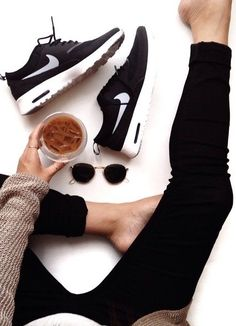 Can't go wrong with black and white sneakers.