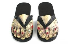 zombie flip flops. for the days I need to hide my toes