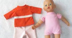 Ompele nukelle juuri sopivan kokoiset vaatteet, näillä ohjeilla piirrät kaavat nukenvaatteisiin. Mukana tulostettavat kaavat paitaan ja housuihin 33 cm pituiselle nukelle. Onesies, Kids, Baby, Clothes, Fashion, Children, Outfit, Boys, Clothing