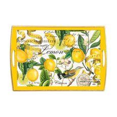 Lemons Decoupage Wooden Tray