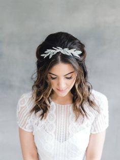 Bridal Hair Comb Leaf Hair Comb Wedding Headpiece Wedding | Etsy