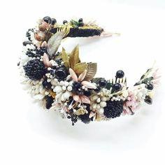 Flower Crown Wedding, Wedding Headband, Head Accessories, Wedding Hair Accessories, Wedding Hairstyles With Crown, Jeweled Headband, Fascinator Headband, Head Jewelry, Bridal Headpieces