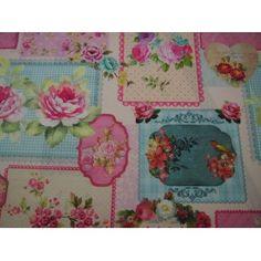 Loneta floral. Venta de todo tipo de estampados en Lonetas.  Visita nuestra web, www.centrotela.es