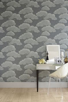 Wallpaper: Pines – Silver Pine Paint: French Grey 113