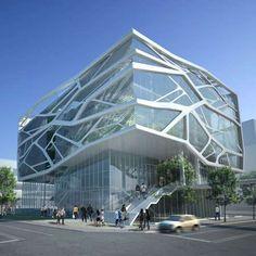 The South Korea Gimpo Art Hall by Gansam Partners #architecture trendhunter.com