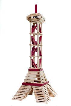 KAPLA Beispielfotos + Bauanregungen - KAPLA Steine super-günstig bei KIMBO Exklusive Spielzeuge Tour Eiffel, Plank, Play Ideas, Hobby, Super, Montessori, Kids, Crafts, Design