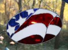 Patriotic Stained Glass Flag by Imakeglass on Etsy