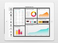 Dashboard analytics by Hila Peleg, via Behance