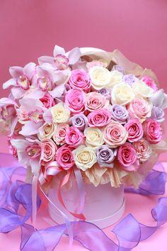 Best Florist Fairfax Same Day Flower Delivery Fairfax VA Farida Floral Beautiful Bouquet Of Flowers, Happy Flowers, Amazing Flowers, Love Flowers, Beautiful Roses, Good Night Flowers, Happy Birthday Flower, Flower Boutique, Flower Packaging