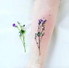 Hyper-realistic wildflower tattoo by Pis Saro                                                                                                                                                     More