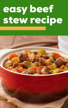 Easy Beef Stew Recipe – Serve up a batch of delicious comfort food flavors thanks to this beef stew recipe! This Healthy Living dish makes it simple to enjoy a classic on your dinner table. Casserole Recipes, Meat Recipes, Slow Cooker Recipes, Crockpot Recipes, Chicken Recipes, Cooking Recipes, Fall Recipes, Beef Dishes, Food Dishes