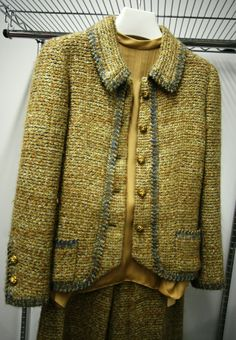 "Claire Shaeffer: ""This Chanel jacket from the Drexell collection is trimmed with selvage in an unusual way."""