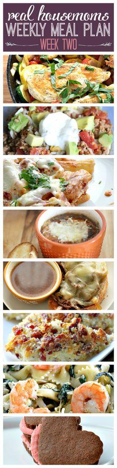 Real Housemoms Weekly Meal Plan | Week Two