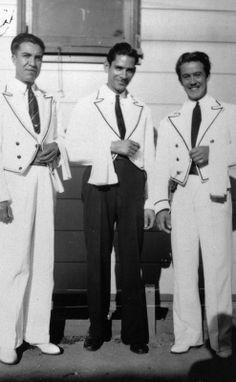 Waiters at El Cholo Restaurants, 1938