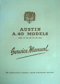 Service Manual - Austin Pub. 890 - incl. GD3 Sports